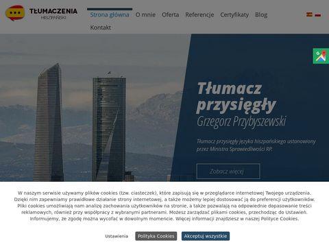 Espanol.pl tłumaczenia ustne hiszpański