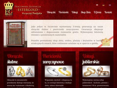 EsterGold - zlotnik, jubiler, skup srebra i zlota Szczecin