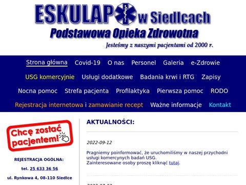 Eskulap Siedlce - lekarz rodzinny