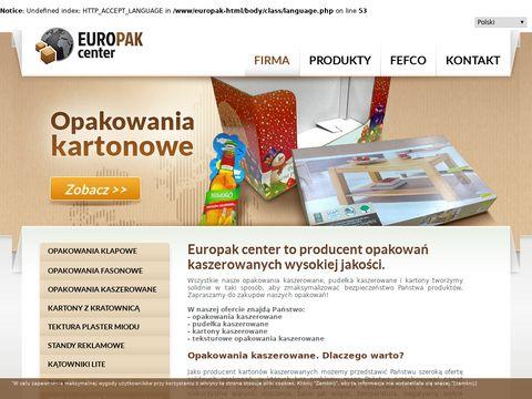 Europak-center.com.pl - opakowania kaszerowane