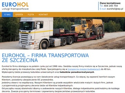 Eurohol transport Szczecin