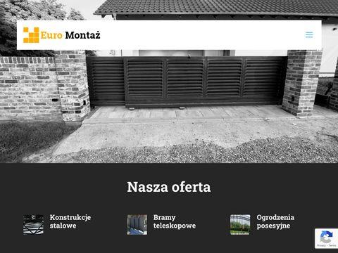 Euromontaz.pl bramy i konstrukcje stalowe Toruń