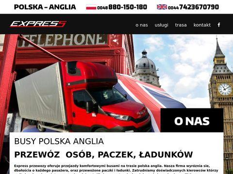 Express-przewozy.pl paczki Polska Anglia