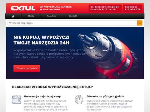 Extul.pl białostocka wypożyczalnia narzędzi