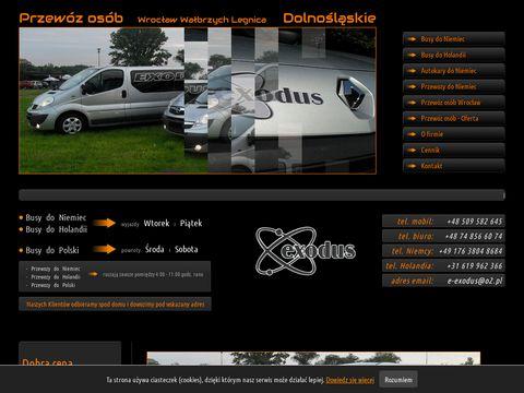Exodusinfo.eu - przewozy do Niemiec
