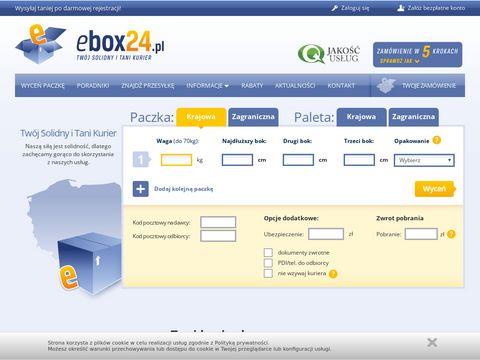 Ebox24.pl - paleta kurier