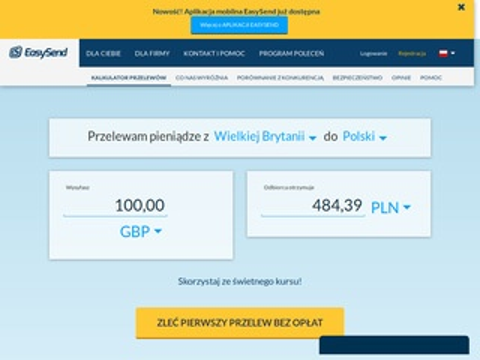 Easysend.pl tanie przelewy do Polski