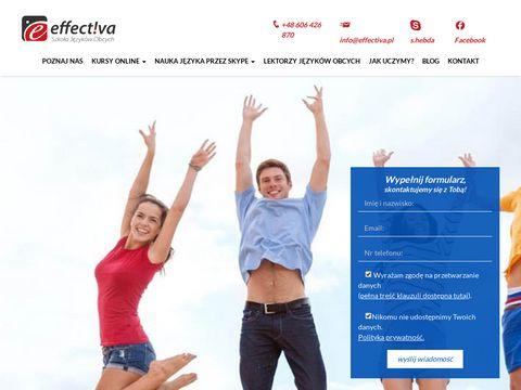 Effectiva.pl - angielski przez Skype