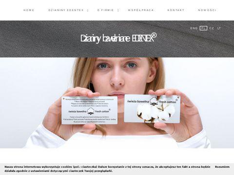 Edentex producent dzianin