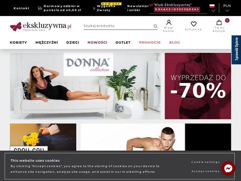 Bielizna damska, męska, sklep internetowy Ekskluzywna.pl
