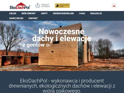 Ekodachpol.pl - krycie dachów wiórem