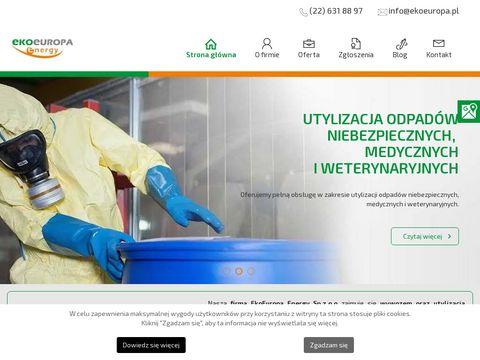 Ekoeuropa.pl odbiór odpadów medycznych