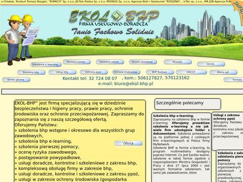 Ekol-BHP profesjonalne szkolenia bhp dla firm