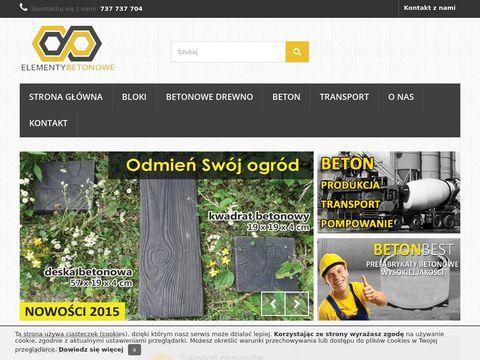 Elementybetonowe.pl - bloczki betonowe