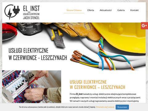El_inst naprawy instalacji elektrycznych