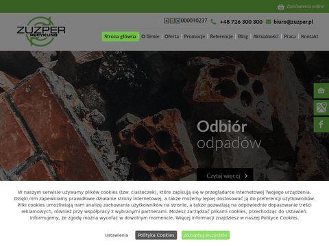 Zuzper Recykling odpady budowlane Poznań