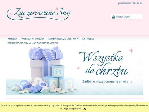 Zaczarowane-sny.pl ubranka do chrztu i dodatki