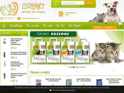 Zooplanet.pl sklep zoologiczny żwirek dla kota