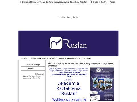 Ruslan.pl kursy językowe i korepetycje z dojazdem, Wrocław