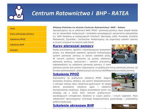 Ratea - szkolenia BHP PPOŻ i pierwszej pomocy