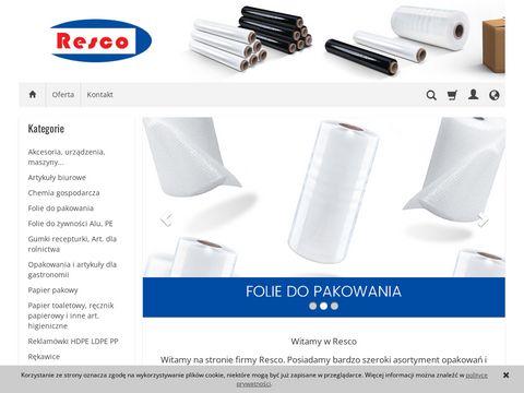 Opakowania foliowe - resco.pl