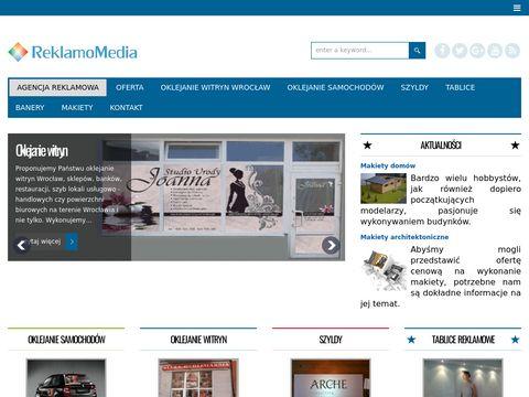 Reklamomedia.pl szyldy Wrocław, oklejanie aut