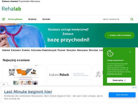 Rehalab.com.pl lista przychodni