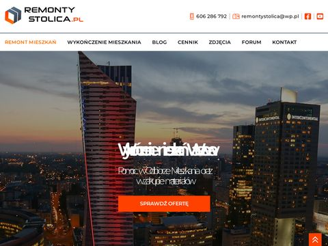 Remontystolica.pl remonty mieszkań Warszawy