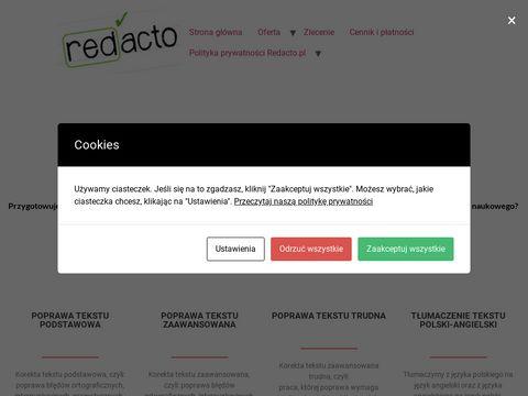 Redacto.pl korekta publikacji