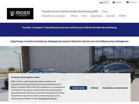 RIDER transport międzynarodowy i przewóz osób