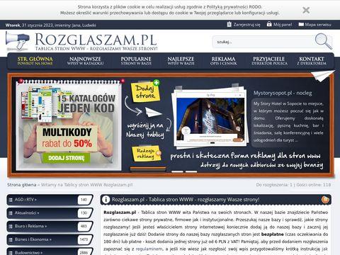 Rozglaszam.pl tablica stron www