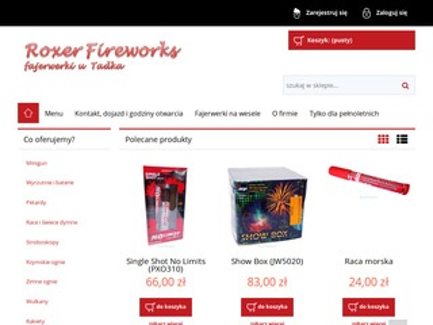 Roxer Fireworks - sklep z fajerwerkami