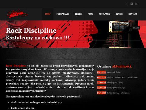 Rockdiscipline.com lekcje gry na perkusji