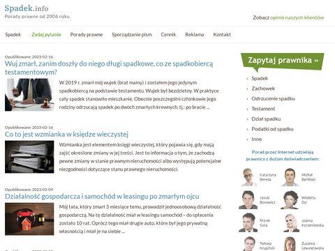 Spadek.info - porady prawne