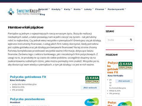 Swietnykredyt.pl pożyczki pozabankowe online
