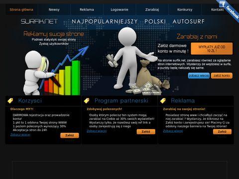 Surfik.net zarabiaj przez internet