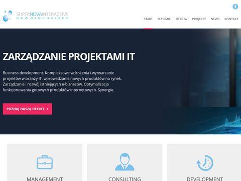 Supernovainteractive.pl - projekty informatyczne