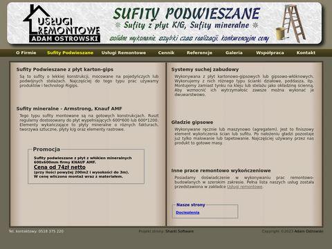 Sufity Podwieszane Śląsk