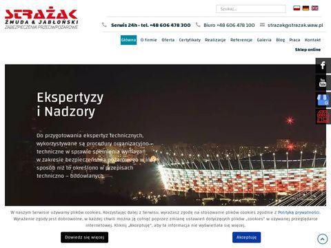 Strazak.waw.pl ochrona przeciwpożarowa budynków