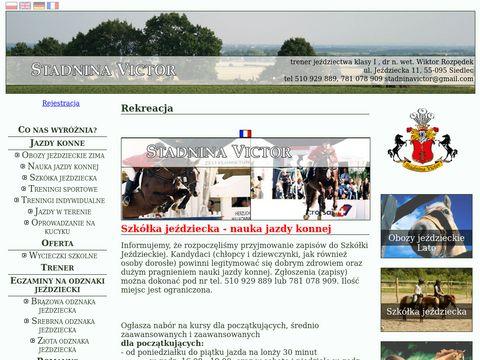 Stadninavictor.pl obozy jeździeckie