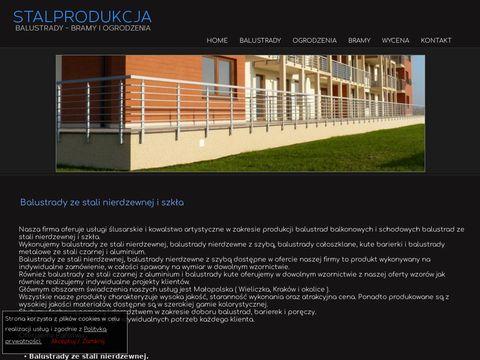 Stalprodukcja.pl balustrady ze stali nierdzewnej