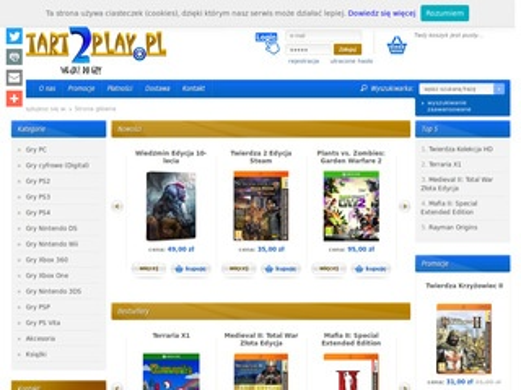 Start2Play - sklep z grami komputerowymi