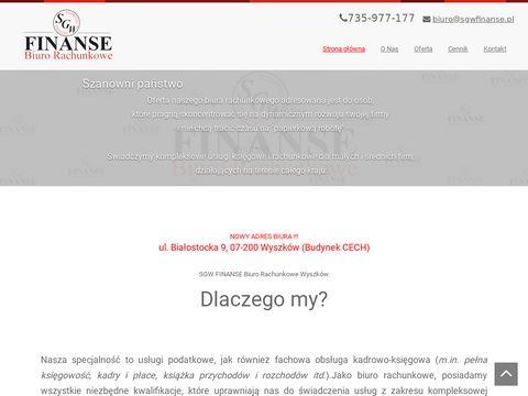 Sgwfinanse.pl biuro rachunkowe Wyszków