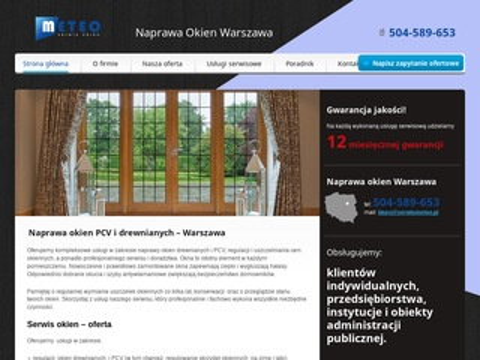 Serwismeteo.pl naprawa okien Warszawa