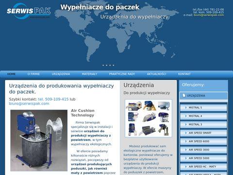 Serwispak.com urządzenia produkujące wypełniacze