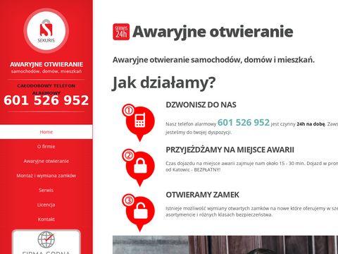 Sekuris.pl - awaryjne otwieranie Katowice