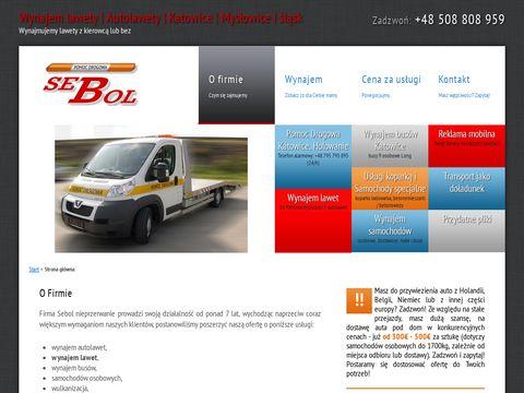 Sebol-wynajem.pl - lawety pomoc drogowa