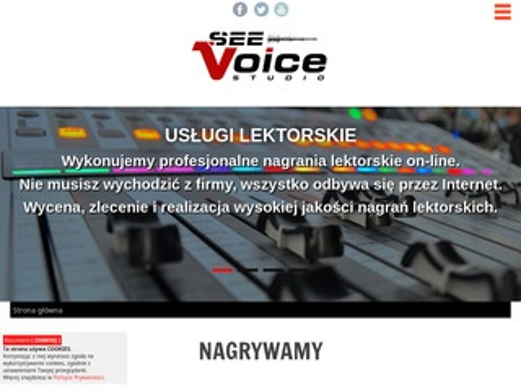 Seevoice.pl reklama dźwiękowa, komunikaty IVR