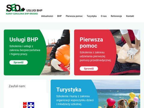 SED Dariusz Szuba obsługa BHP firm w Krośnie