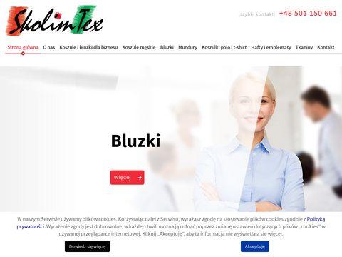 Skolimtex.pl koszule dla pracowników